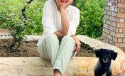 موتور سواری بهاره افشاری در ولیعصر + عکس