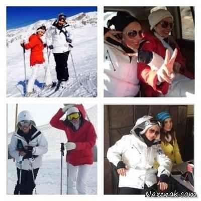 لیلا بلوکات و دوستانش در پیست اسکی
