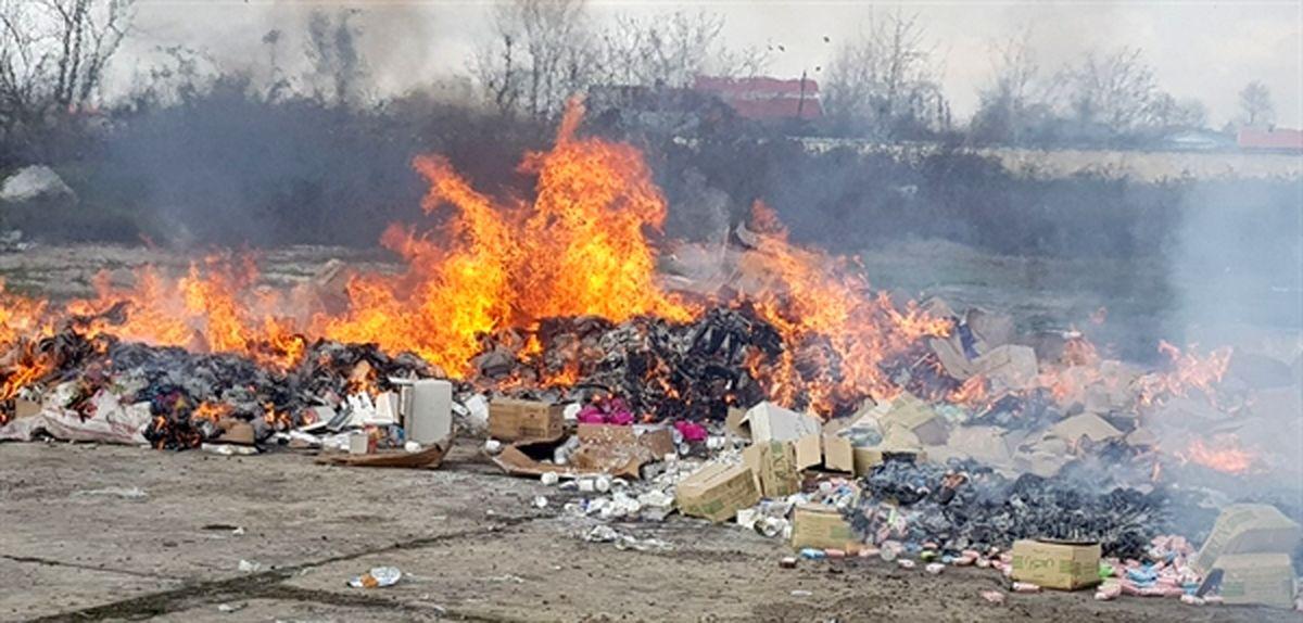 امحاء شدن 85 تن کالای قاچاق در بوشهر
