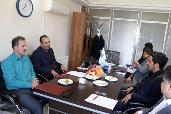 دیدار رئیس هیات مدیره بیمه سرمد با مدیران جمعیت هلال احمر استان همدان