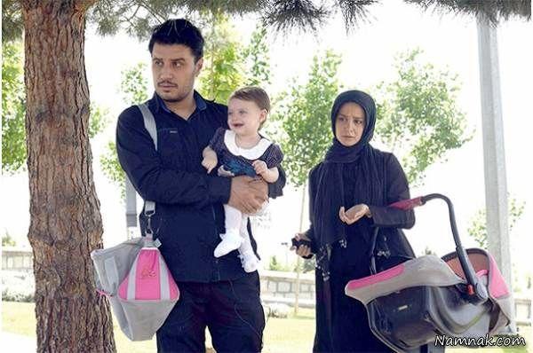الناز حبیبی در کنار جواد عزتی