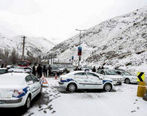 برف و باران در محورهای مواصلاتی ۴ استان
