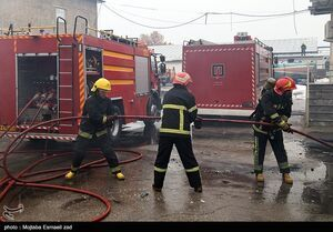 آتش سوزی گسترده در میدان شوش + فیلم و آخرین جزئیات