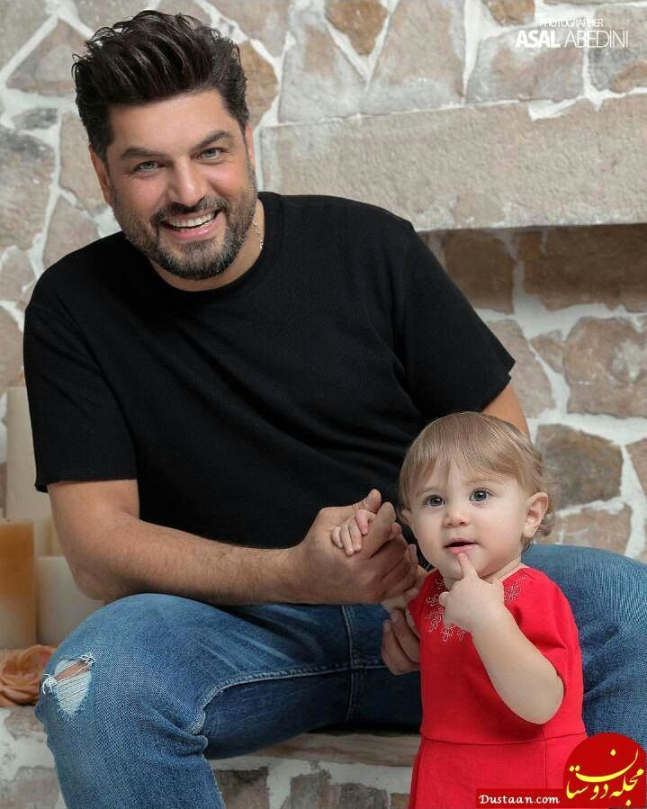 عکس دیده نشده از سام درخشانی و دخترش به مناسبت تولد فرزندش + تصاویر