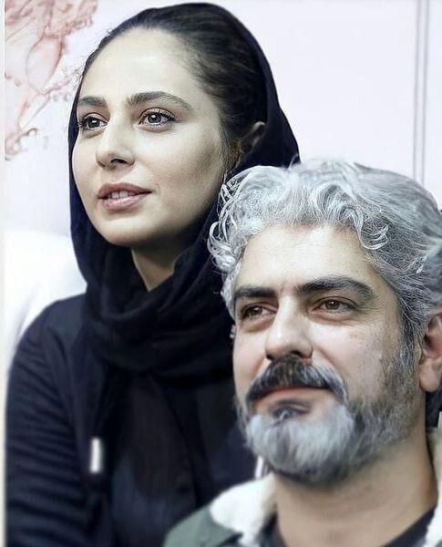 مهدی پاکدل در کنار همسر دومش / عکس