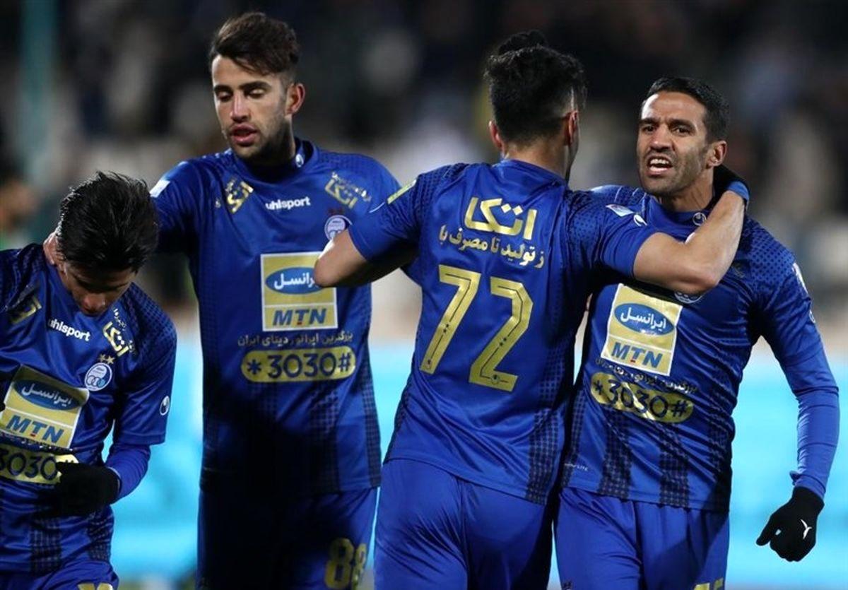 جدول لیگ برتر فوتبال در پایان هفته بیستم