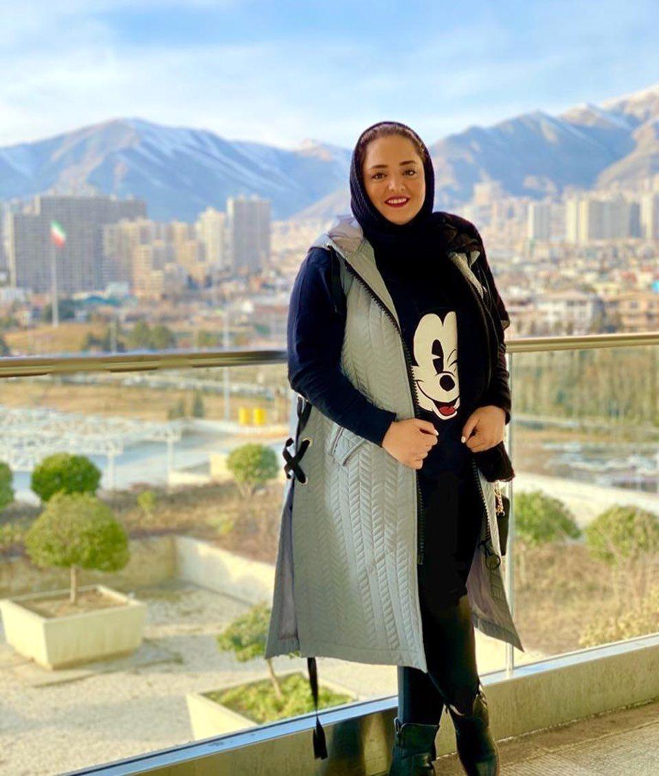 خوشگذرانی لاکچری نرگس محمدی در یک ویلا با حجاب ناجور + عکس
