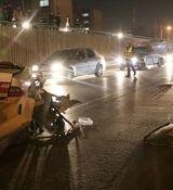 مرگ تلخ زن جوان در ماشین در اتوبان خرازی+عکس دردناک