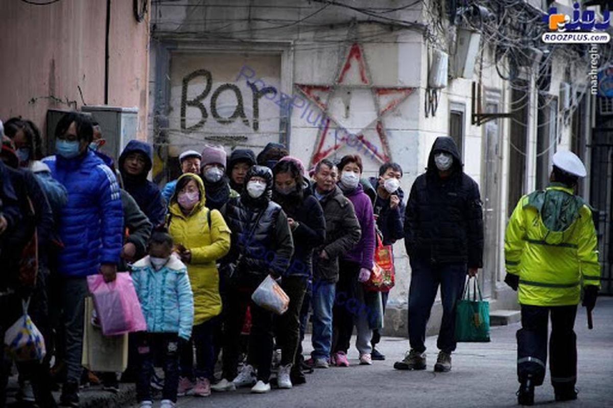 هجوم مردم برای خرید ماسک از ترس کرونا