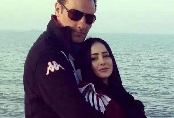 عکس های لورفته از الناز حبیبی و همسرش لب دریا + تصاویر دیده نشده