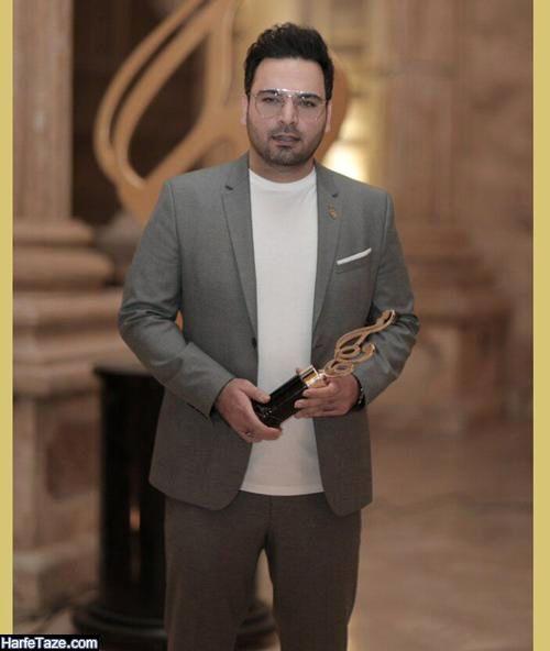 احسان علیخانی برنده بهترین چهره تلویزیون در جشن حافظ 99