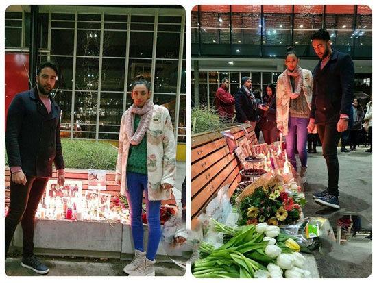 کیمیا علیزاده با چهره تازه در یادبود کشتهشدگان ۷۳۷