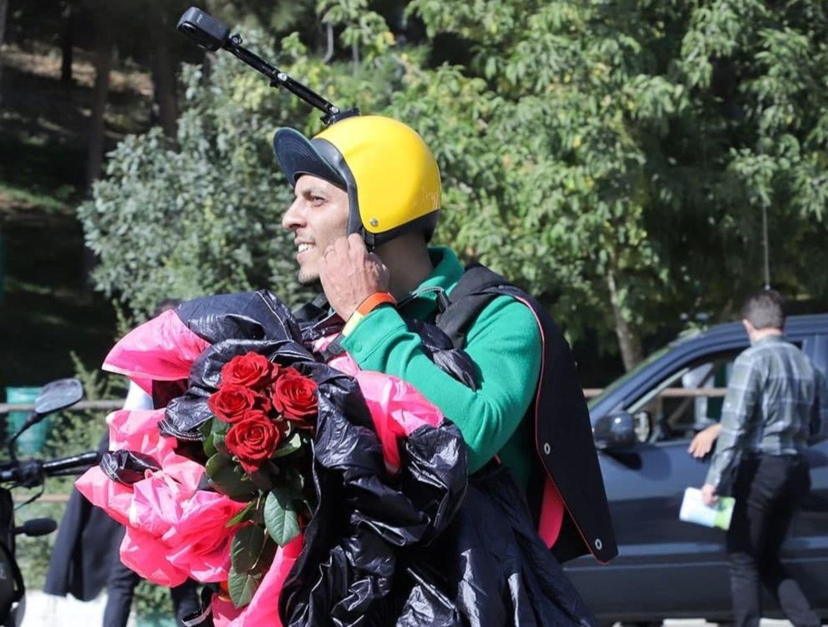 مراسم تشییع محمد بزرگی چتربازی که در سالگرد پلاسکو درگذشت + عکس