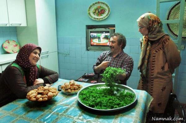 ریما رامین فر و محسن تنابنده در کنار نسرین نصرتی