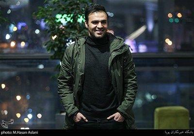 سامان صفاری بازیگر در هفتمین روز سی و هشتمین جشنواره فیلم فجر در پردیس چارسو