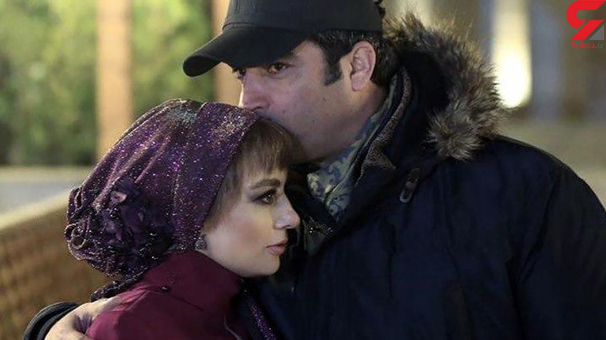 بوسیده شدن یکتا ناصر توسط همسرش در سریال دل + عکس