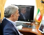 ملاقات ویدیو کنفرانسی مدیرعامل بانک ملی ایران با همکاران مبتلا به کرونا
