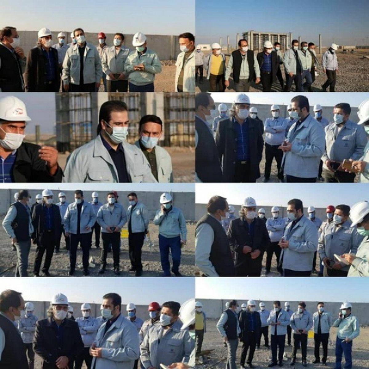 بازدید مدیرعامل فولاد خراسان از کارخانه در حال احداث تامین آهک