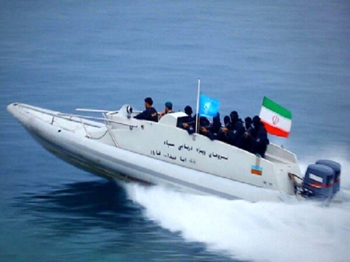 ترس کشتی آمریکایی از شناور ایرانی ها در خلیج فارس + ویدئو