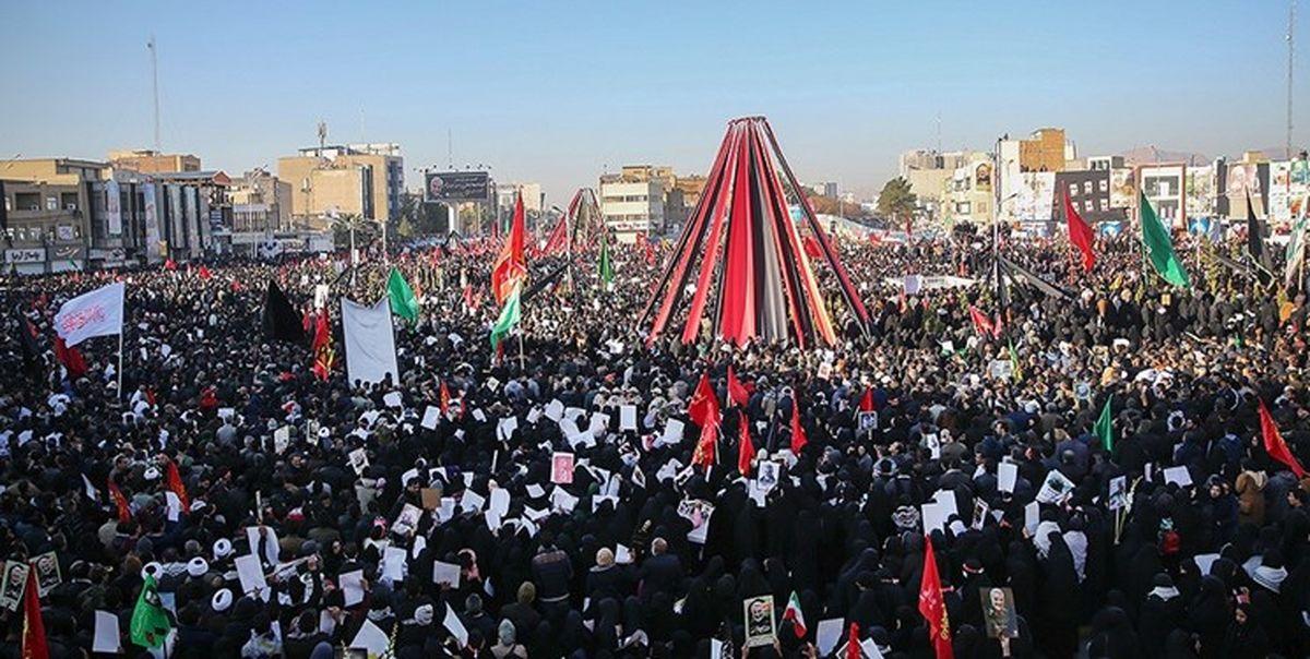 حماسه تشییع فرزند سربلند ایران
