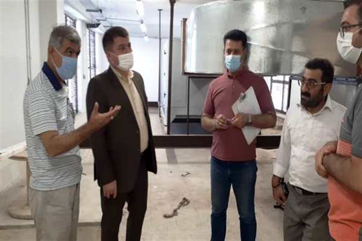 بازدید مدیر درمان تامین اجتماعی کردستان از پروژه درمانگاه دیواندره