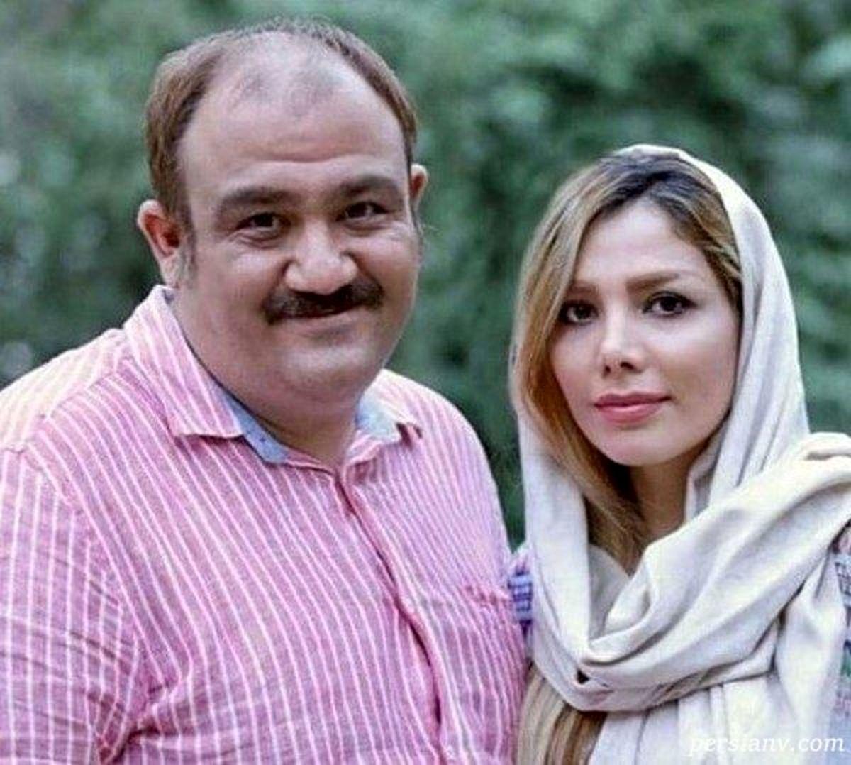 عکس لورفته از زن مهران غفوریان در خارج از کشور | مهران غفوریان و همسرش