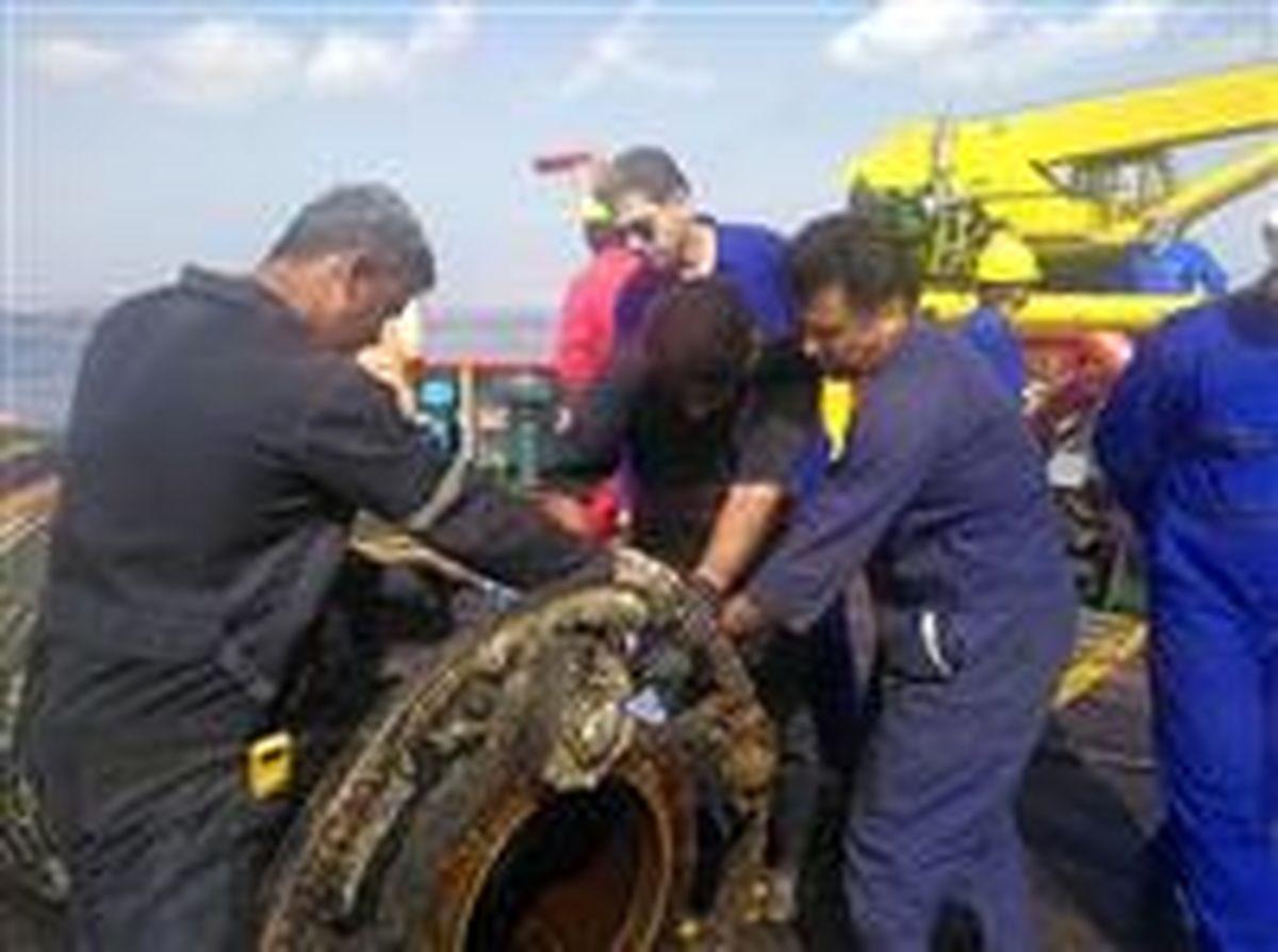 تعمیر شیرهای گوی شناور صادرات نفت منطقه لاوان