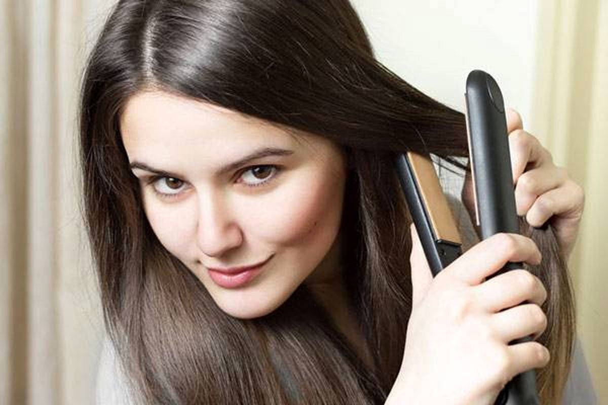 آموزش بهترین روش اتو کشیدن موها + نکات مهم