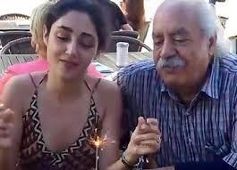 عکس لورفته و منشوری گلشیفته فراهانی به همراه پدرش لب ساحل در خارج از کشور + فیلم و عکس