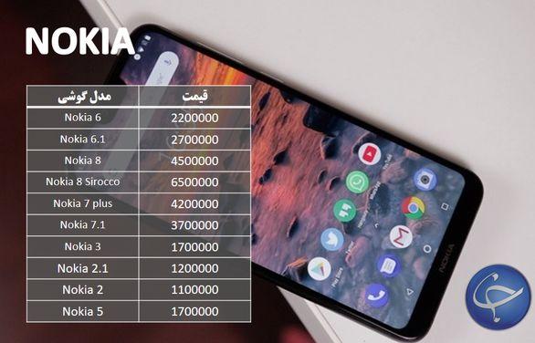 تازه ترین قیمت تلفن همراه در بازار + جدول