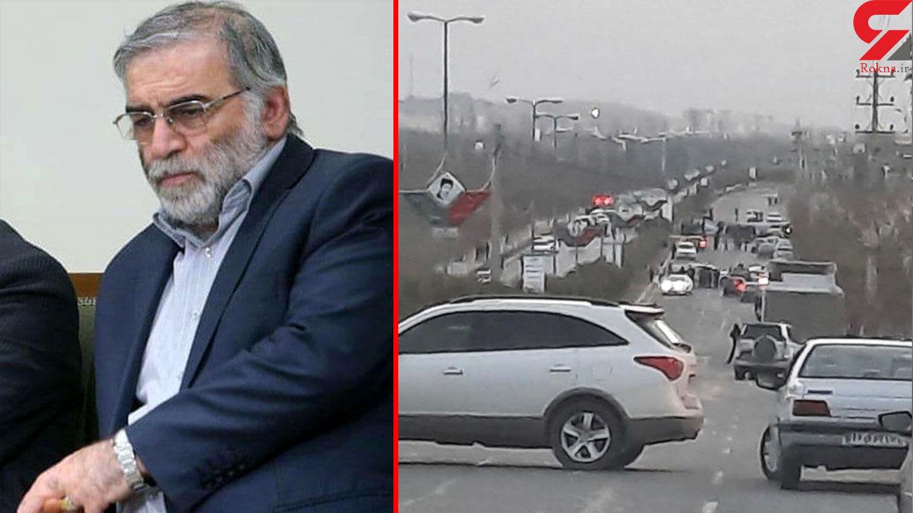 لحظه ترور محسن فخری زاده دانشمند هسته ایی ایران + فیلم
