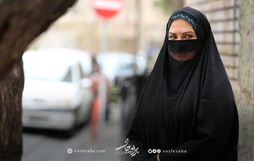 عکس | «لعیا زنگنه» با چادر و روبنده در سریال تلویزیونی - موسیقی ...