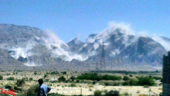 عکس/ ریزش کوه نمک بر اثر زلزله در بوشهر