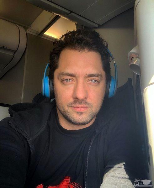 بهرام رادان در هواپیما