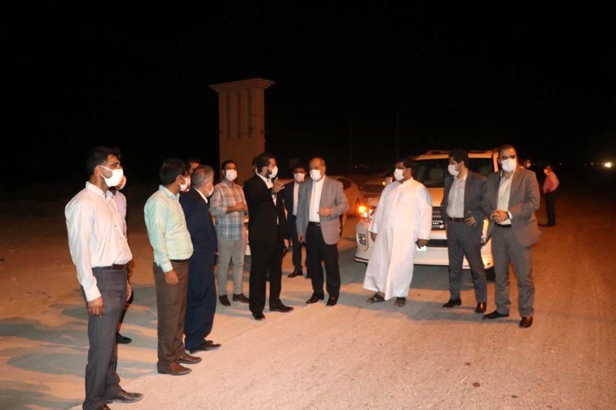 بازدید مدیرعامل سازمان منطقه آزاد قشم از عملکرد 150 روزه شهردار طبل
