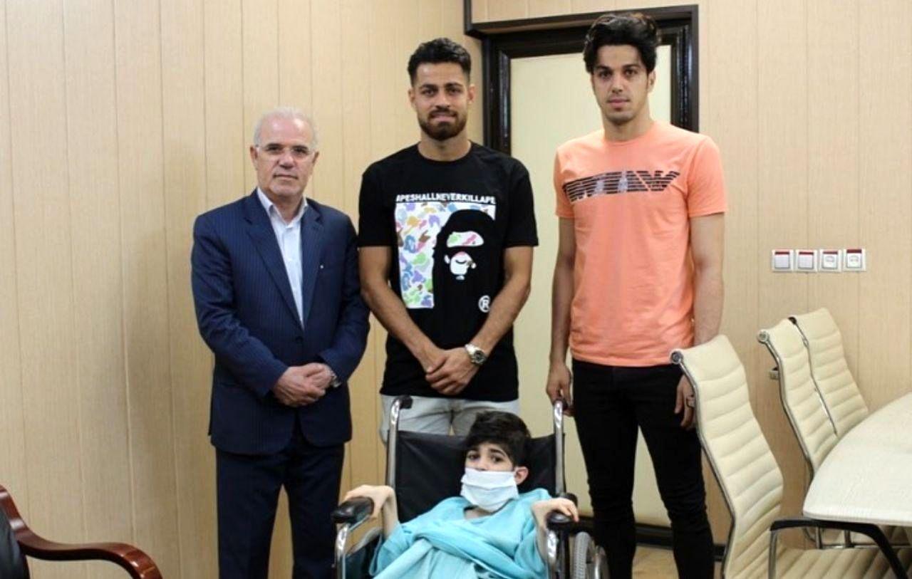 حضور مدافع تیم ملی فوتبال ایران در مرکز معلولین