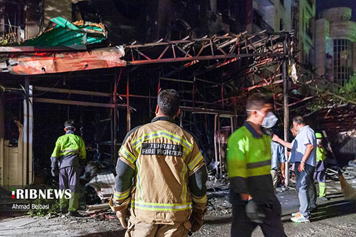 تصاویر جدید از آتش سوزی درمانگاه سینا در تهران + تصاویر