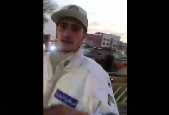 سیلی نماینده مجلس به سرباز نیروی انتظامی + فیلم