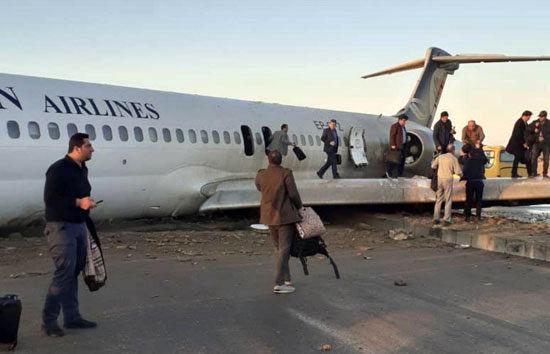 هواپیمای کاسپین دچار حادثه شد