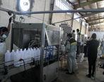 آغاز عملیات بسته بندی محلول گندزدا تولیدی پتروشیمی کارون برای توزیع رایگان در جامعه