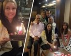 جشن تولد 45سالگی خانم بازیگر و مجرد کشورمان + عکس