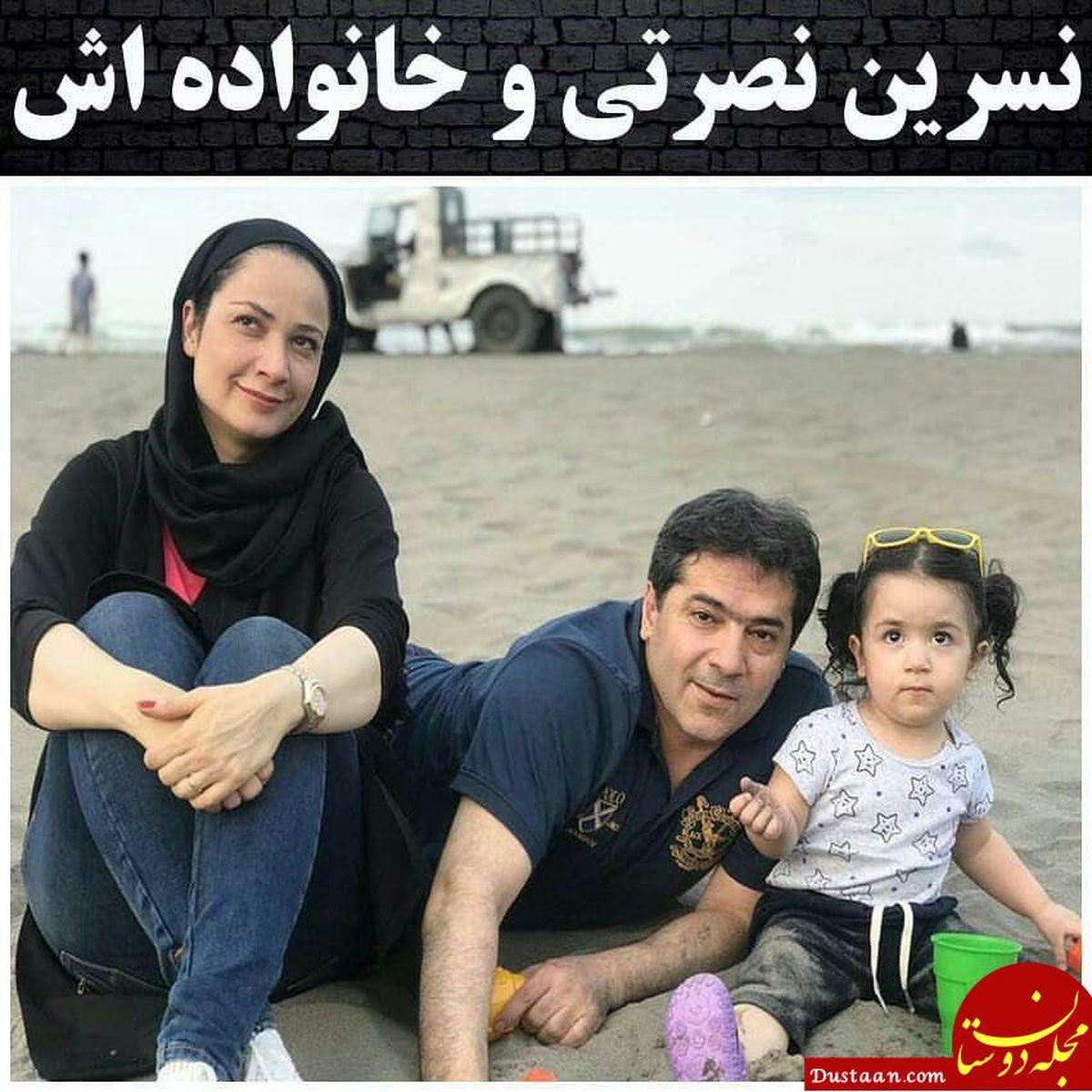 عاشقانه های نسرین نصرتی بازیگر نقش فهیمه سریال پایتخت و همسرش لب ساحل + بیوگرافی