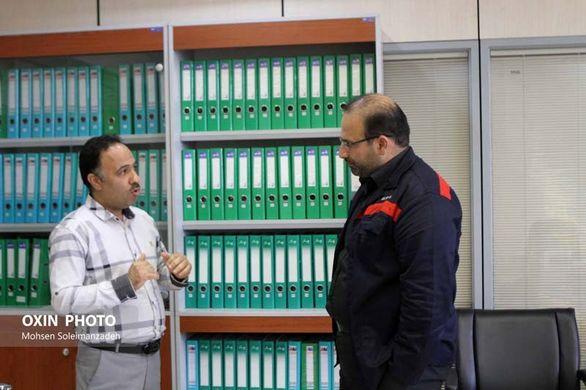 بازدید مهندس امین ابراهیمی از واحدهای مختلف شرکت