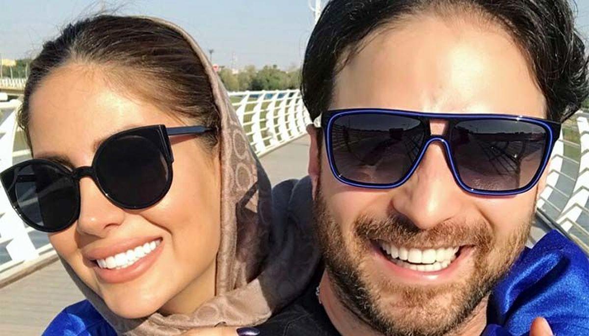 پست جگرسوز همسر بابک جهانبخش برای همسرش + عکس
