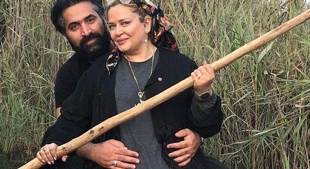 عکس های لورفته و منشوری از خوشگزارنی لاکچری بهاره رهنما و همسر دومش لب دریا + تصاویر