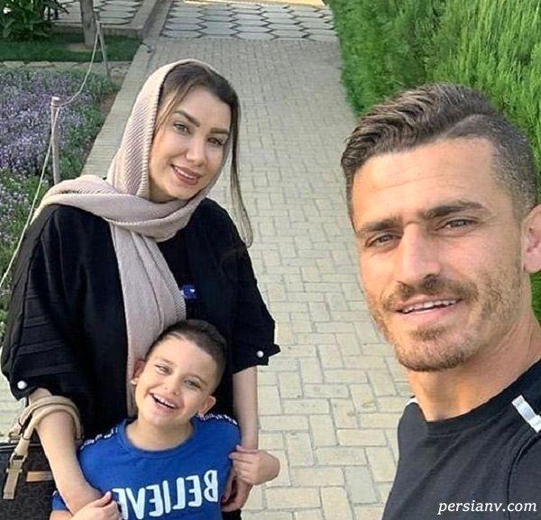 تصادف شدید همسر و فرزند وریا غفوری بازیکن استقلال + عکس