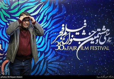 علی رویین تن کارگردان در هفتمین روز سی و هشتمین جشنواره فیلم فجر در پردیس چارسو