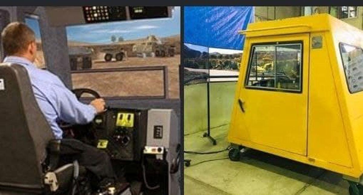 آموزش رانندگان دامپتراک معادن با دستگاه شبیهساز بومی
