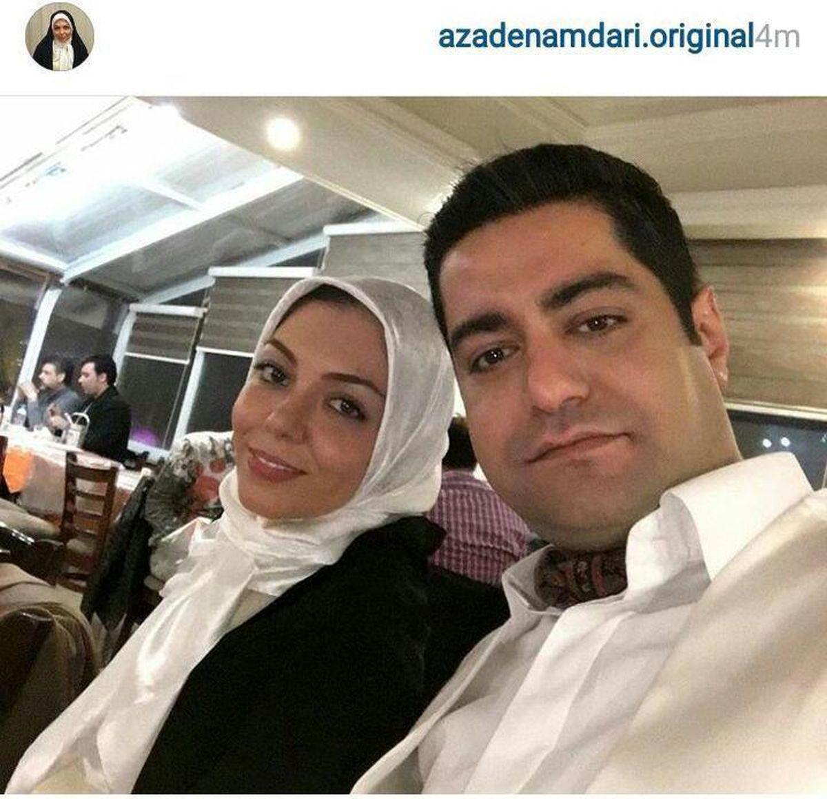 بیوگرافی آزاده نامداری + تصاویر همسرش
