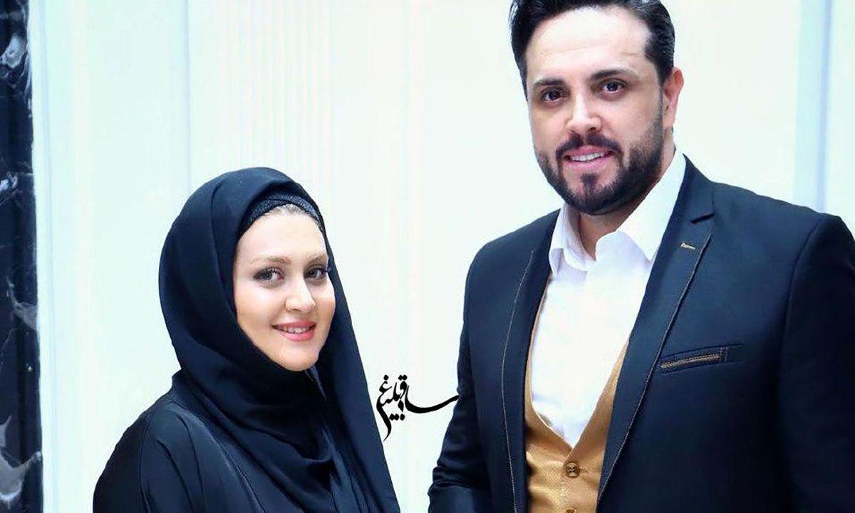 جشن تولد دونفره مجری تلویزیون با همسرش + تصاویر